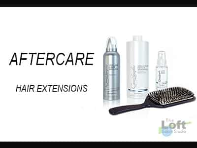 Aftercare for hair extensions Western Ma