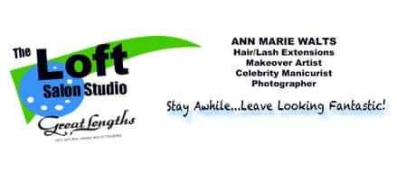 hair extensions ma- thel loft salon studio logo