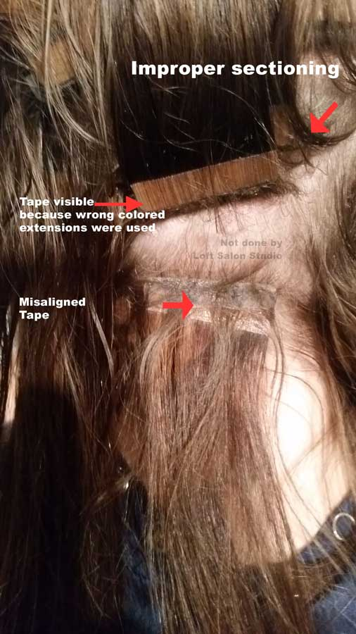 Poorly Applied Hair Extensions L Extension Corrections