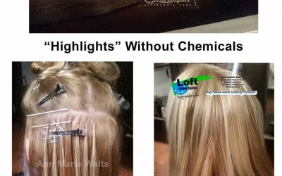 """Foil Hair Color Versus """"Non-Chemical Highlights"""""""