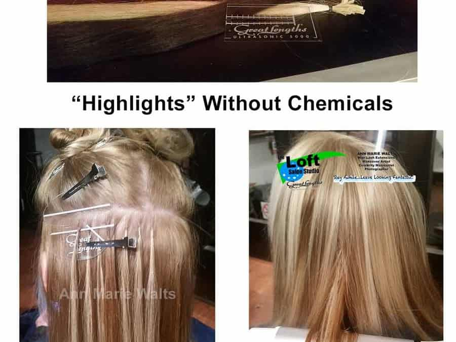"Foil Hair Color Versus ""Non-Chemical Highlights"""