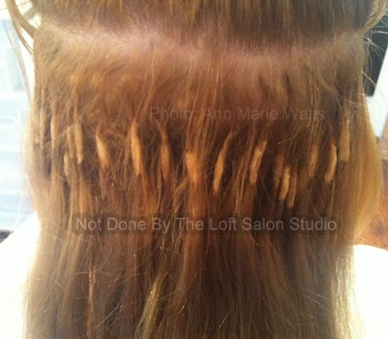 Bad Hair Extension Application- Not Done by Loft Salon Studio