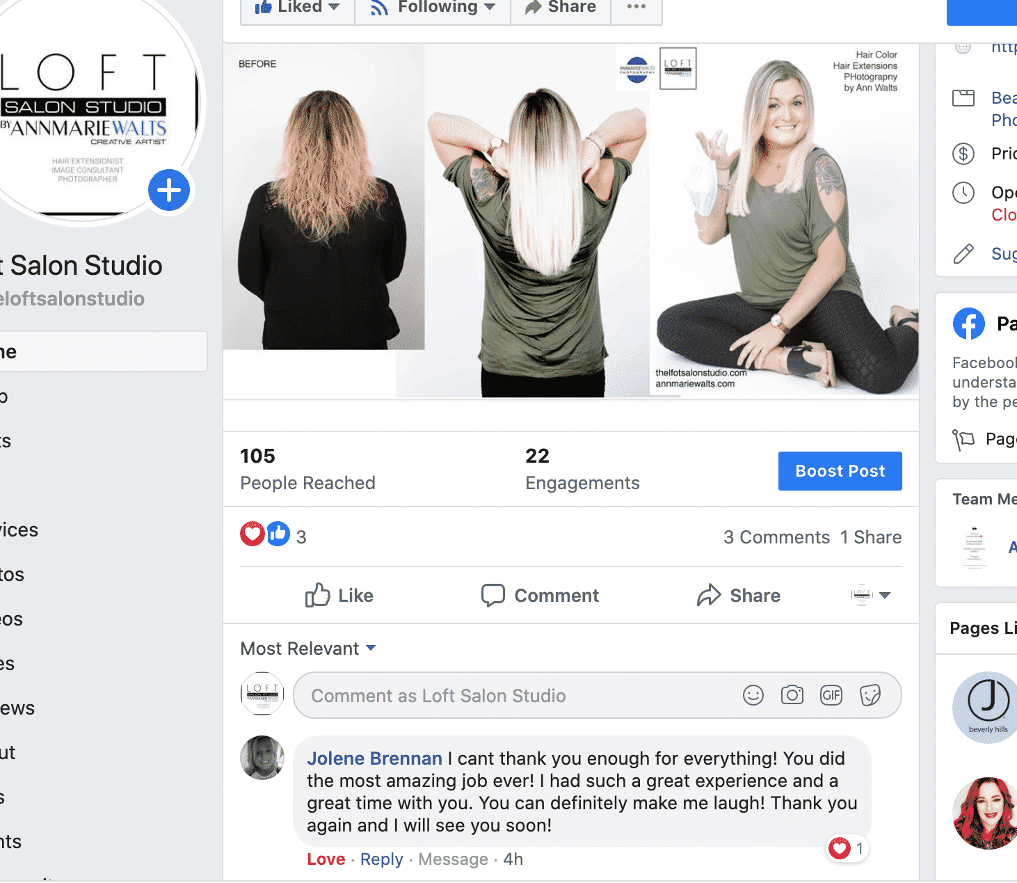 Review Of Loft Salon Studio