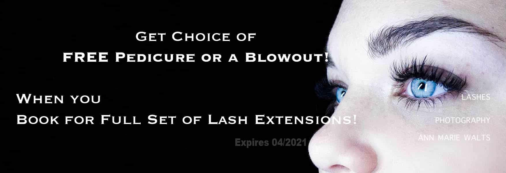 Free Blowout or Pedicure with Set of Lashes copy